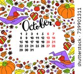 calendar. month. abstract... | Shutterstock .eps vector #739901311