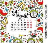 Calendar. Month. Abstract...