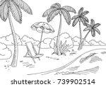 sea coast graphic black white...   Shutterstock .eps vector #739902514