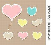 vector set of vintage cute... | Shutterstock .eps vector #73990336