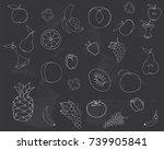 drawing on the blackboard.... | Shutterstock . vector #739905841