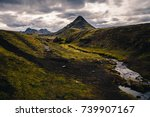 iceland mountain landscape.... | Shutterstock . vector #739907167