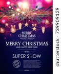 christmas flyer and poster... | Shutterstock .eps vector #739909129