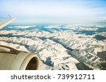 aerial view of european alps... | Shutterstock . vector #739912711