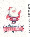 christmas greeting card with... | Shutterstock .eps vector #739915279