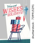 christmas greeting card with... | Shutterstock .eps vector #739915291