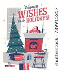 Christmas Greeting Card. Mid...