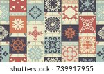 seamless retro ceramic tile... | Shutterstock .eps vector #739917955