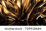 luxury golden background. 3d... | Shutterstock . vector #739918684