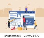 web design and development.... | Shutterstock .eps vector #739921477