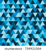 abstract blue triangle pattern... | Shutterstock .eps vector #739921504