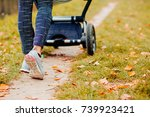 young mother exercises in a...   Shutterstock . vector #739923421