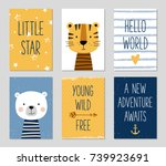 birthday cards with quotes ... | Shutterstock .eps vector #739923691