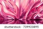 luxury golden background. 3d... | Shutterstock . vector #739923895