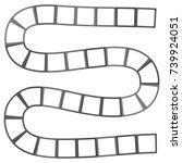 abstract futuristic maze ...   Shutterstock .eps vector #739924051