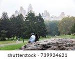 new york  usa   sep 16  2017 ... | Shutterstock . vector #739924621
