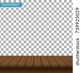 realistic wooden table on a... | Shutterstock .eps vector #739925029