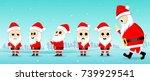 little santa claus  santa claus ... | Shutterstock .eps vector #739929541