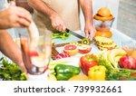 detail of senior couple in...   Shutterstock . vector #739932661