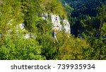 via ferrata course on the swiss ... | Shutterstock . vector #739935934