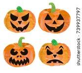 Set Of 4 Halloween Pumpkins....