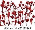 splashes of blood red... | Shutterstock . vector #73993945