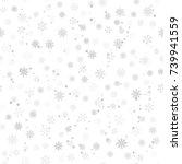 festive christmas background of ... | Shutterstock .eps vector #739941559