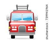 fire truck icon | Shutterstock .eps vector #739941964