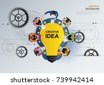 idea concept for business... | Shutterstock .eps vector #739942414