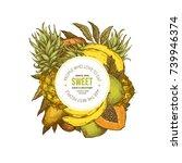 fresh fruit round composition.... | Shutterstock .eps vector #739946374