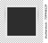 square retro photo frame... | Shutterstock .eps vector #739948129