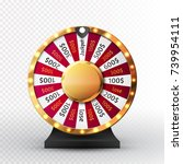 colorful wheel of luck or... | Shutterstock .eps vector #739954111