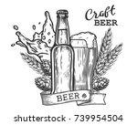 wheat beer ads  beer bottle and ... | Shutterstock .eps vector #739954504