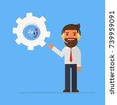 customer service man | Shutterstock .eps vector #739959091