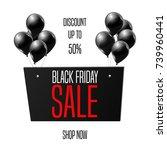 black friday sale banner... | Shutterstock .eps vector #739960441