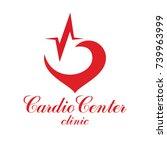 cardiology vector conceptual... | Shutterstock .eps vector #739963999