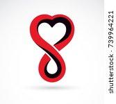 vector illustration of heart... | Shutterstock .eps vector #739964221