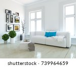 white scandinavian room... | Shutterstock . vector #739964659