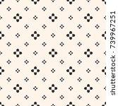 simple floral texture  vintage... | Shutterstock .eps vector #739967251
