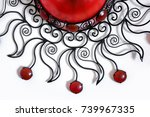 detail of a decorative moroccan ...   Shutterstock . vector #739967335
