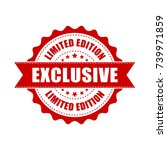 exclusive grunge rubber stamp.... | Shutterstock .eps vector #739971859