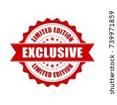 exclusive grunge rubber stamp.... | Shutterstock .eps vector #739971859