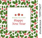 christmas background with... | Shutterstock .eps vector #739975657