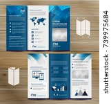 tri fold brochure mock up ... | Shutterstock .eps vector #739975684