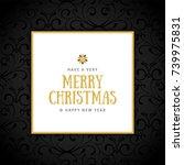 elegant christmas background... | Shutterstock .eps vector #739975831