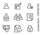registration vector icons set.... | Shutterstock .eps vector #739982755