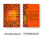 a terrible pattern of flyers... | Shutterstock .eps vector #739984249