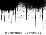 vector dripping paint. paint... | Shutterstock .eps vector #739984711
