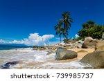 view at playa las animas near... | Shutterstock . vector #739985737