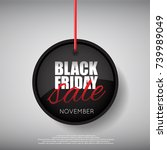 black friday sale tag | Shutterstock .eps vector #739989049